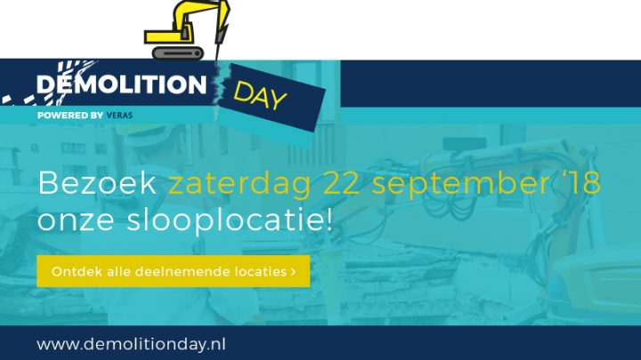 Demolition Day 22 sept Alkmaar open dag De Harmonie C.A. de Groot Sloop