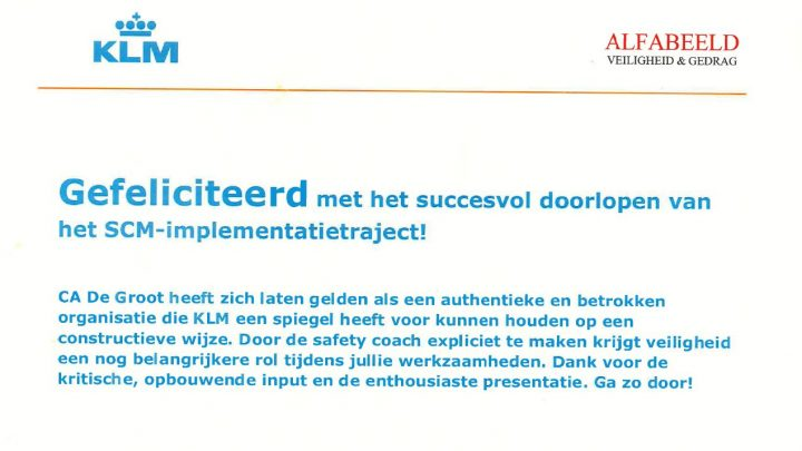 KLM Compliment Safety & Compliance manual